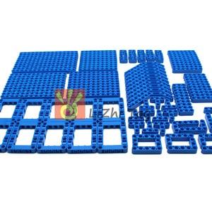 Image 4 - 120 шт., технические детали, 6 цветов, Liftarm, толстые строительные блоки, набор аксессуаров, механический луч, основная часть, DIY игрушки для детей