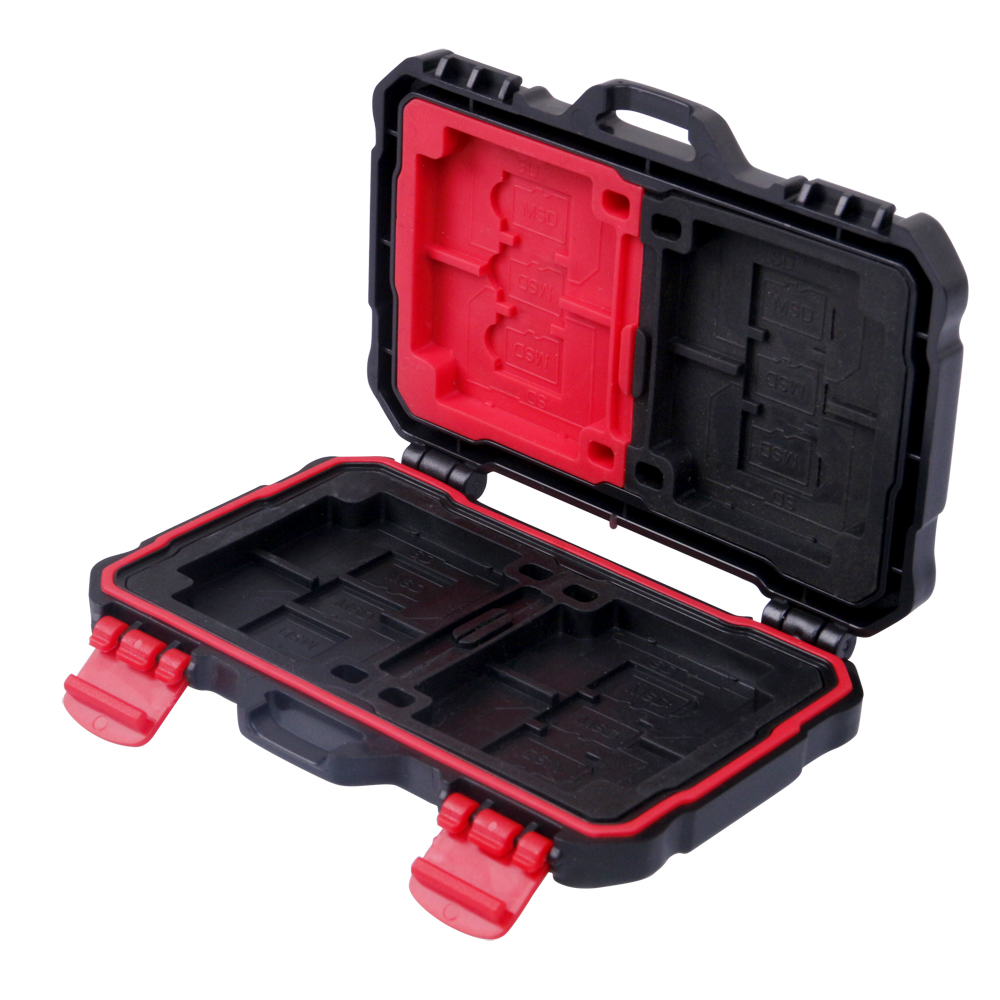 Memory Card Case Holder For 4pcs CF Card SDXC MSPD XD 12 TF T-Flash Storage Box Protector Case Waterproof Anti-shock