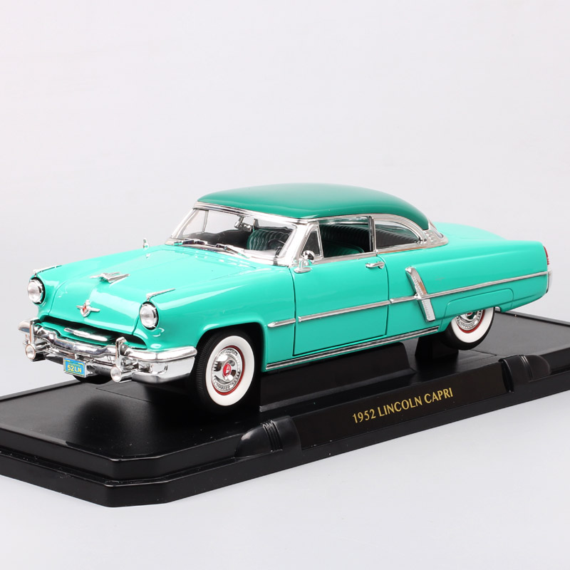 Classic 1/18 Scale brands Large 1952 Lincoln Capri diecast modeling cars auto vehicles Continental miniatures toys for children