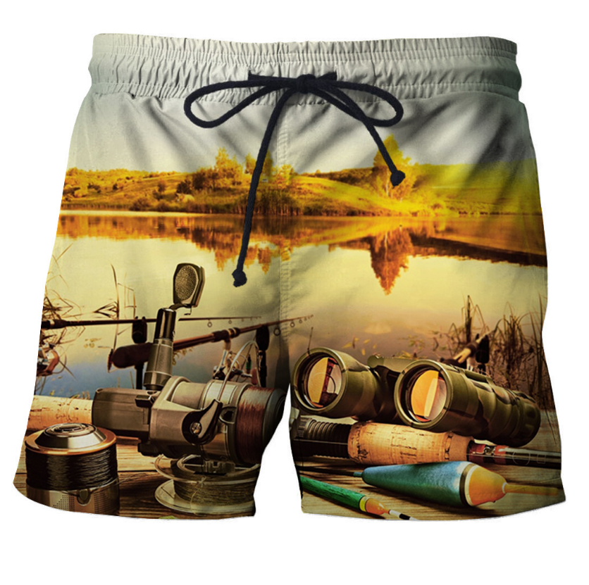 2020 New Men Fashion Summer Beach Shorts Elastic Waist Short Pants Printed Swimming Short Pants