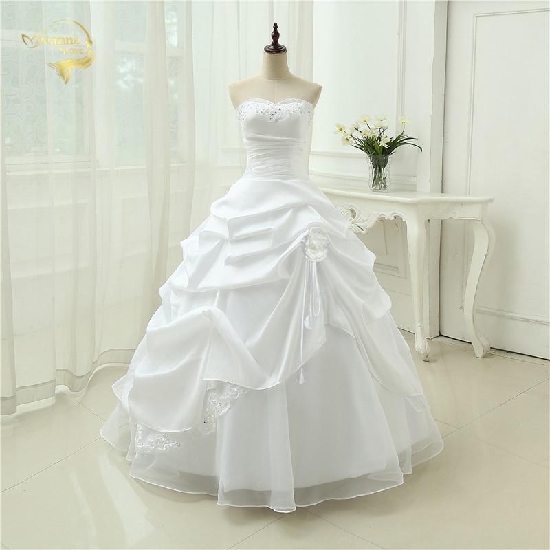 Wedding Gown A Line Vestido De Noiva Applique Sequins Sweetheart Casamento White Ivory Plus Size 2020 Wedding Dresses OW 2043