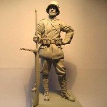 1:16 120 MILLIMETRI di trasporto della resina figure soldati kit WW2 Mitragliere non verniciato e smontato