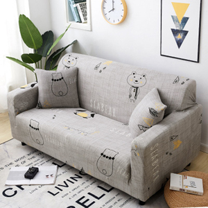 Image 4 - Stretch Sofa Cover Slipcover Furniture Protector Couch Soft with Elastic Bottom Anti Slip Foam Kids, Spandex Jacquard Fabric