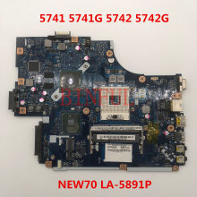 Alta calidad para Acer aspire 5741 5741G 5742 5742G Laptop motherboard NEW70 LA-5891P HM55 HD5470 512M DDR3 100% probado completamente(China)