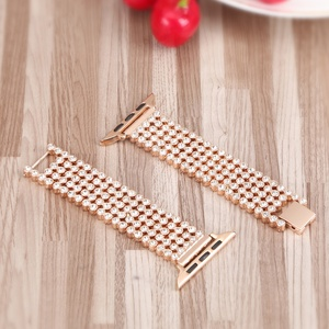 Image 5 - Crystal Diamond strap for Apple Watch band 38mm 42mm 40mm 44mm SE stainless steel Replacement Bands for iWatch series 6 5 4 3 2