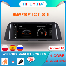 Android 10 Systeem Auto Auto Gps Navi Voor Bmw F10 F11 2011-2016 Wifi Google 2 + 32Gb ram Ips Touchscreen Stereo Bt Multimedia Aux