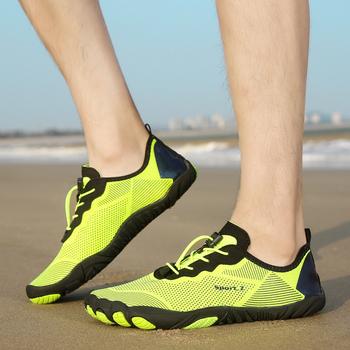 Pary szybkoschnące antypoślizgowe plażowe buty do wody damskie oddychające odporne na zużycie brodząc sportowe buty męskie buty Upstream Sneakers tanie i dobre opinie Loekeah CN (pochodzenie) Dobrze pasuje do rozmiaru wybierz swój normalny rozmiar Spring2019 elastyczna opaska Początkujący