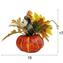 Lifelike Artificial Fake Pumpkin Leaves For Halloween Harvest Festival Decoration Simulation Pumpkins Accessories
