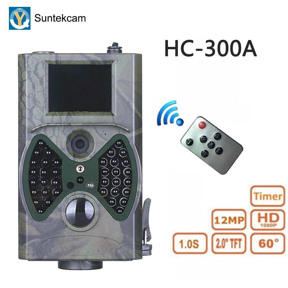 HC-300A Trail Camera Hunting Cameras 12MP 1080P Wild Surveillance Photo Trap IP54 Waterproof 32GB Hunter Trail Scouting Camera image