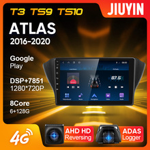 Jiuyin Type C Auto Radio Multimedia Video Player Navigatie Gps Voor Geely Atlas NL-3 2016 - 2020 Android Geen 2din 2 Din Dvd