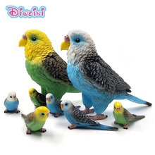 New toys Simulation Big Parrot bird action figure plastic Animal Model garden decoration figurine one piece Gift for Kids