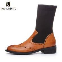 Prova perfetto feminino meados de bezerro botas outono inverno quente sapatos de salto alto mulher couro genuíno casual qualidade marca botas de estiramento