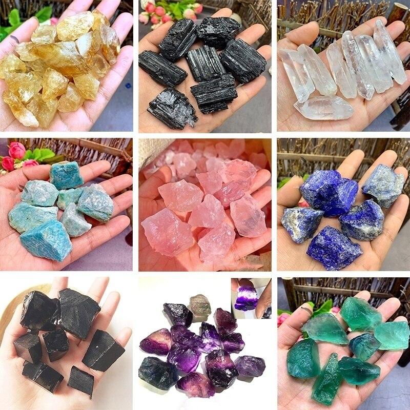 30 50g Natural Rare Raw Obsidian Colored Fluorite Gemstone Mineral Specimen Crystal Reiki Healing Diy habitacion decoracion|Stones| |  - title=