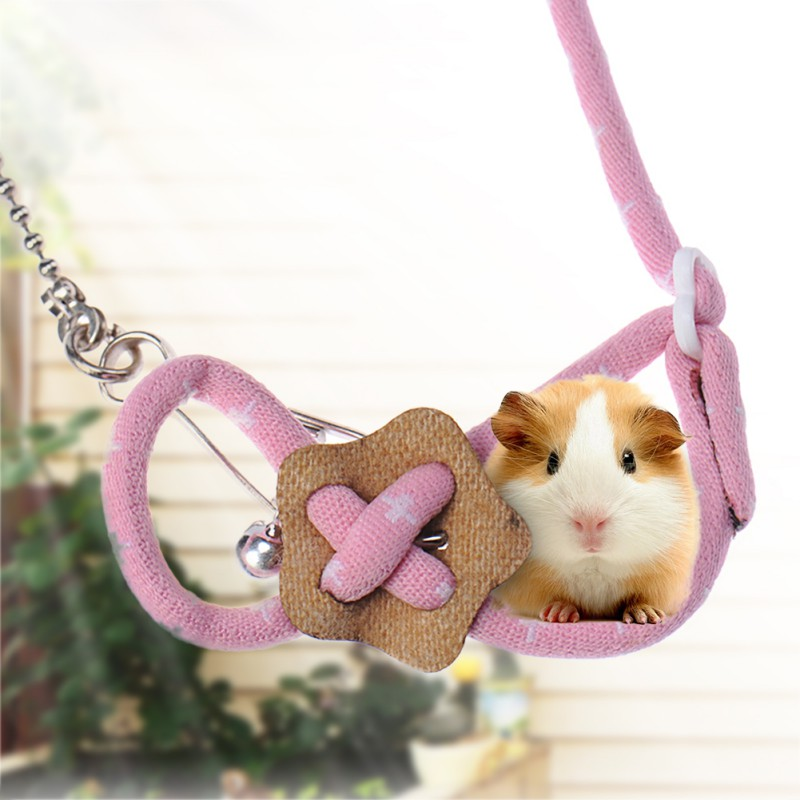 Pet Rabbit Rat Mouse Harness Adjustable Rope Ferret Hamster Finder Bell Random Color Leash Lead Ferret Konijn Guinea Pig Cobaya