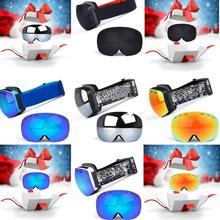 Ski Snowboard Snow Goggles Otg Design For Men Women With Spherical Detachable Lens Uv Protection Anti-fog