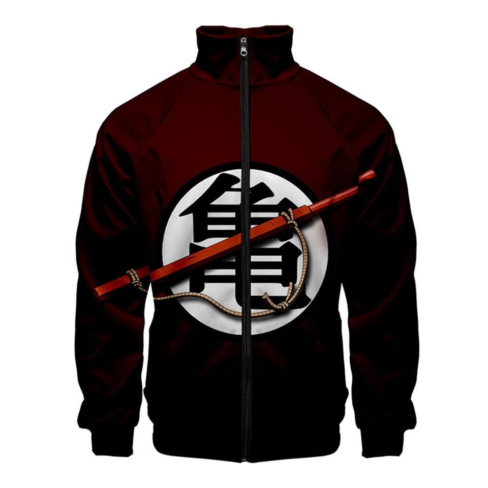 Personality Mix-Up Dragon Ball 3d Printed Stand Collar Zipper Jacket Men Boy Fashion Goku Sweatshirt Brand Jackets Clothing