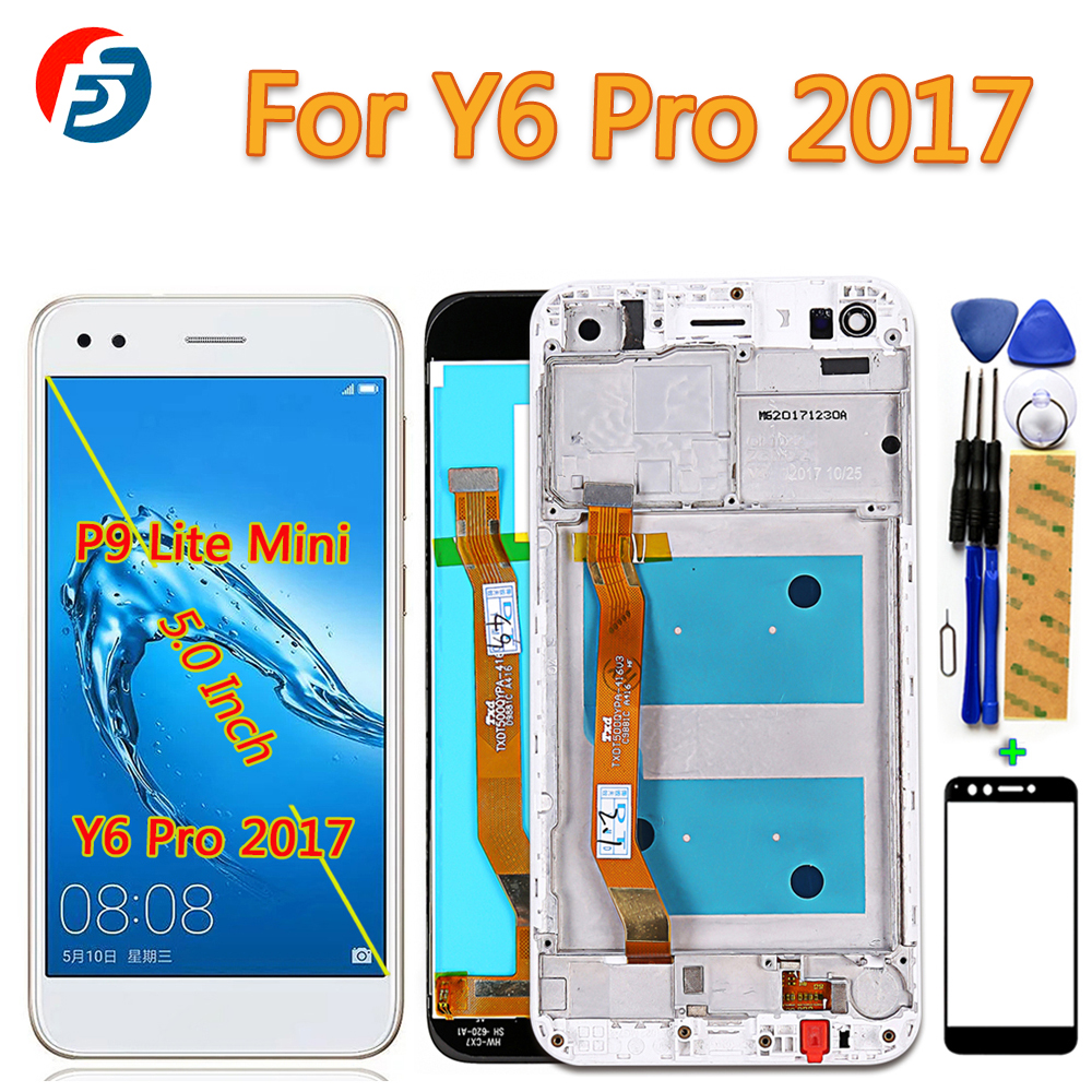 100% Tested Touch Screen For Huawei P9 Lite Mini / Huawei Y6 Pro 2017 SLA-L02 SLA-L22 -TL00 LCD Display Digitizer Assembly Frame