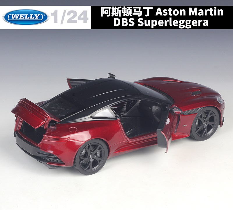 WELLY 1//24 SCALE RED ASTON MARTIN DBS SUPERLEGGERA DIECAST CAR MODEL 24095RED