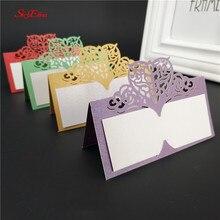 50 Uds Vintage corazón cortado por láser número de mesa Tarjeta De Nombre tarjetas de lugar Tarjeta de asiento boda banquete cumpleaños decoración 5Z
