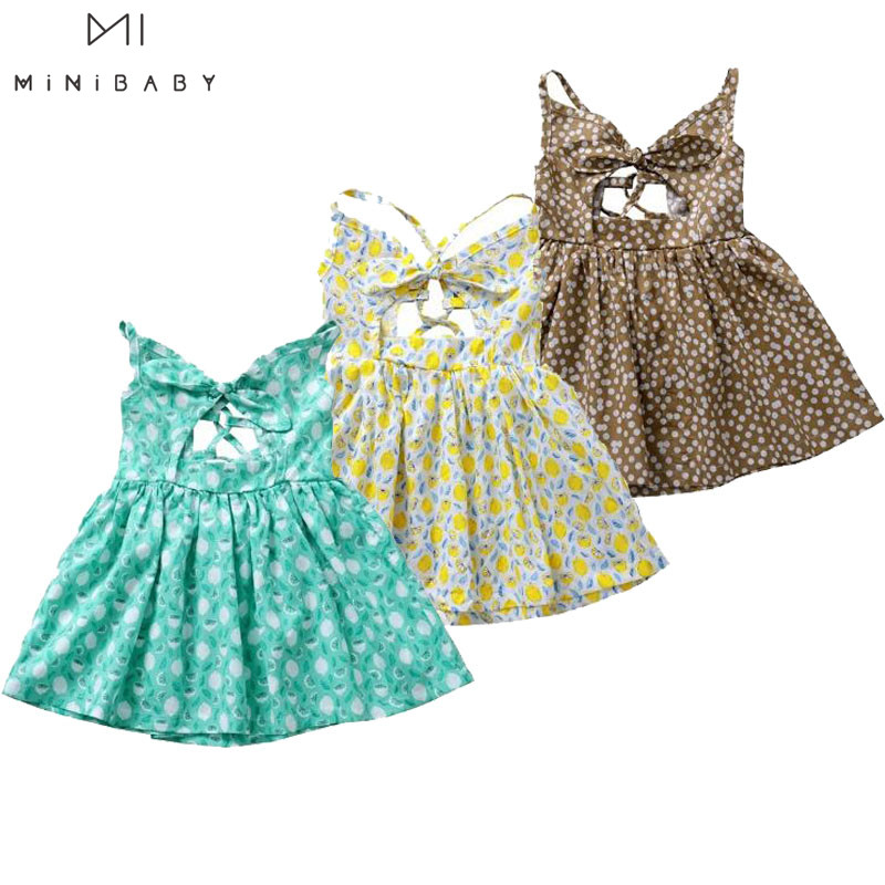 Newborn Clothes For Baby Girls Dress Cute 2020 Summer Cotton Sleeveless Dot Pattern Sweet Girls Princess Birthday Party Dress