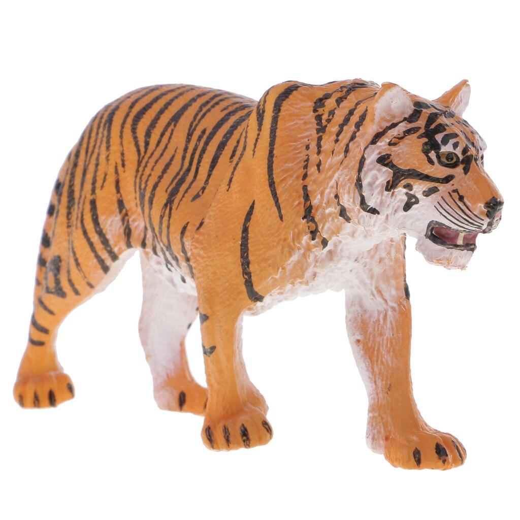 Figura realista de tigre siberiano, Animal salvaje, juguete regalo niños educativo amarillo