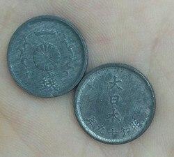 Японские монеты 1% медь 1944-1945 15 мм, старые оригинальные монеты, Коллекционная серия, 100% реальные редкие монеты, случайный год