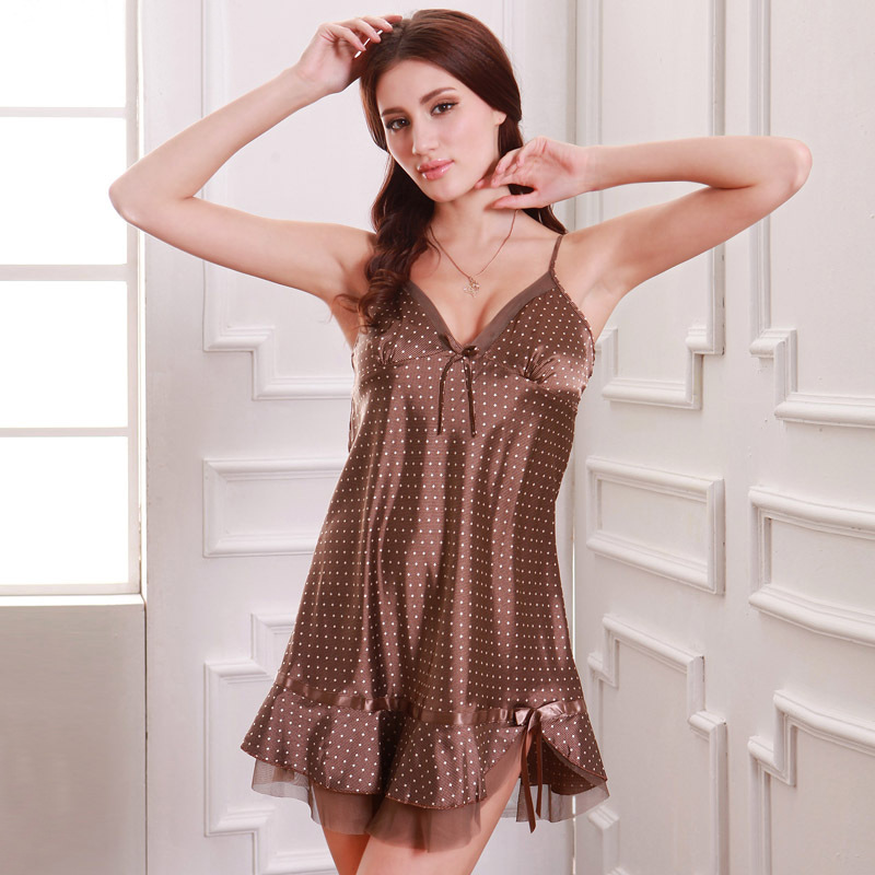 Yao Ting Imitated Silk Fabric Sexy Spaghetti Strap Pajamas Women's Summer Silk Pajamas Wholesale Manufacturers Direct Selling A