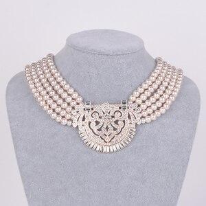 Image 2 - HW naszyjnik z pereł, akcesoria dla druhen ślubnych, akcesoria imprezowe, prezenty urodzinowe dla dziewczyn