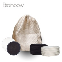 Makeup-Remover-Pads Rounds-Pads Washable Brainbow Bamboo-Fiber Facial Deep-Cleansing