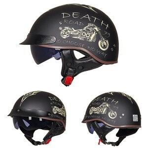 GXT DOT сертификация Ретро мотоциклетный шлем Мото шлем скутер винтажный полулицевой Байкер мотоциклетный шлем Casco Moto
