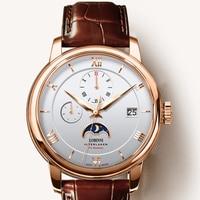LOBINNI-Reloj de acero inoxidable para hombre, de lujo, suizo, movimiento mecánico automático, zafiro, L686020