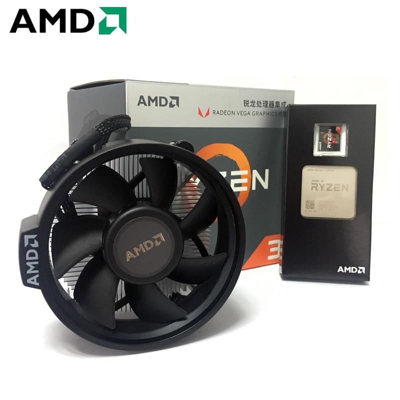 AMD Ryzen 3 2200G PC Computer Quad-Core Processor 3.5GHz 65W Socket AM4 Desktop Boxed CPU Contains CPU Cooler