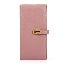 2018 New Leather Wallet Ladies Litchi Head Multi-Card Long