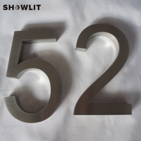 Separated Home Number 3D Stainless Steel Custom Made House Home Numbers|Door Plates| |  -