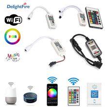 WIFI RGB RGBW Controller DC 5V 12V 24V Music Controller 16 Million Colors Magic Home WiFi LED Controller For RGB RGBW LED Strip cheap DelightFire CN(Origin) IR RF Magic Home Mini Bluetooth WiFi LED Controller Wireless Bluetooth WiFi Control IOS Android