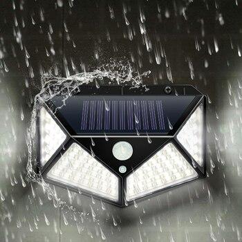 Garden Solar Lamp PIR Motion Sensor LED Outdoors Solar Power