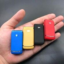 Ulcool F1 미니 플립 휴대 전화 무선 블루투스 다이얼러 매직 음성 핸즈프리 이어폰 GSM 가장 작은 휴대 전화 PK J9