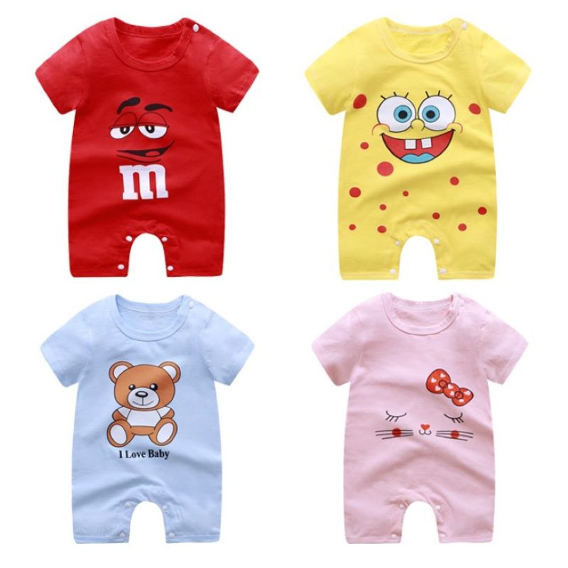 Summer Boys Girls Romper Newborn Baby Clothes Baby Girl Romper Infant Costumes Pajamas Infant Outfits Clothing For Boys Girls