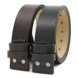 LannyQveen-Cinturón de piel de vaca 100% pura para hombre, correa de 3,8 CM sin hebilla, cinturones de cuero genuino con agujeros, alta calidad