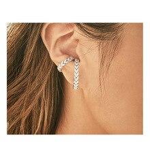 ear cuffs snake  clip earrings for women crystal rhinestone jewelry