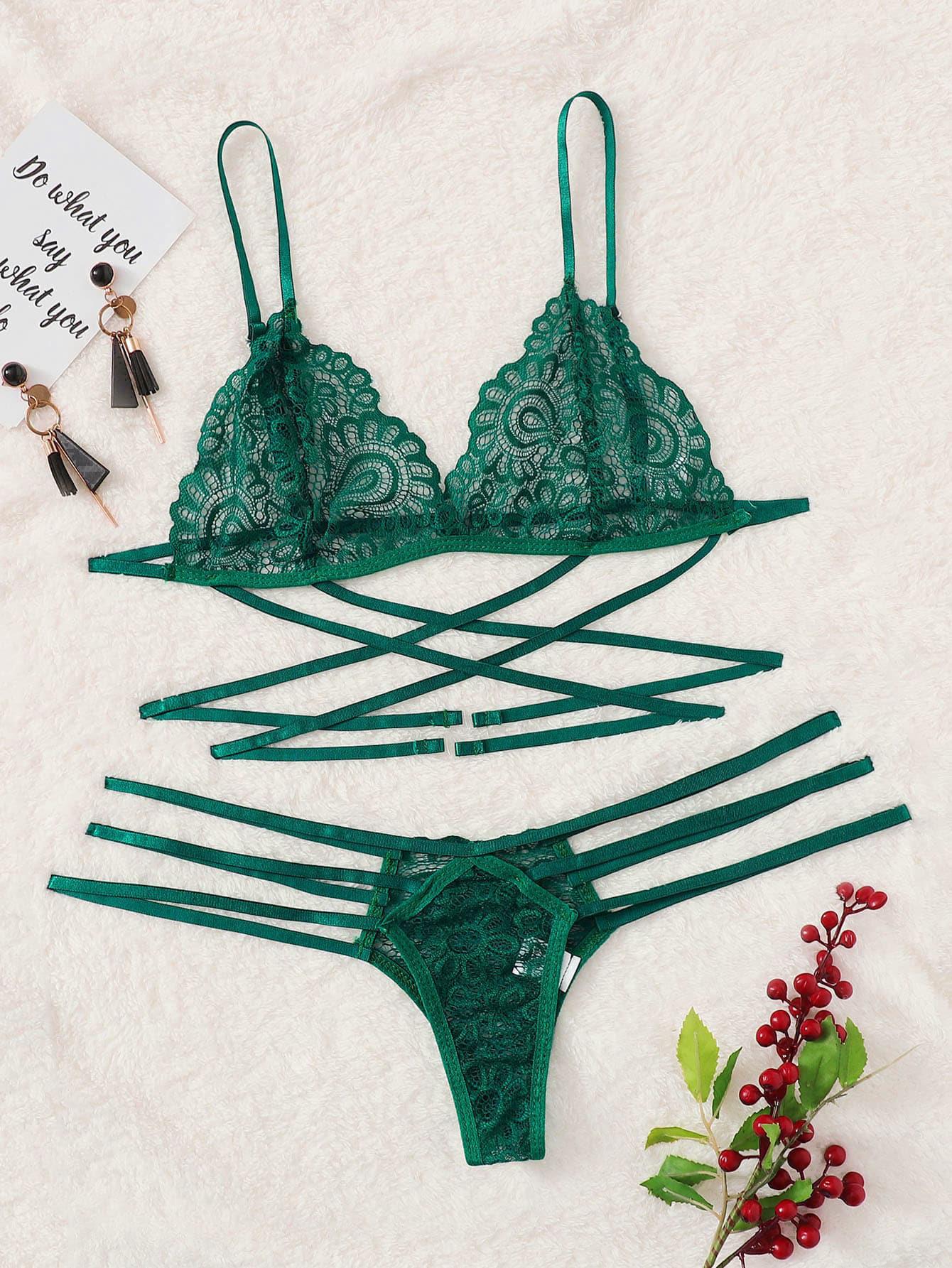 Hdcd059bbb0814e2e8caa9e9643e0a4d39 Lencería erótica de encaje transparente para mujer, ropa interior ahuecada, trajes de tres puntos, lencería Sexy, cinturón sexual