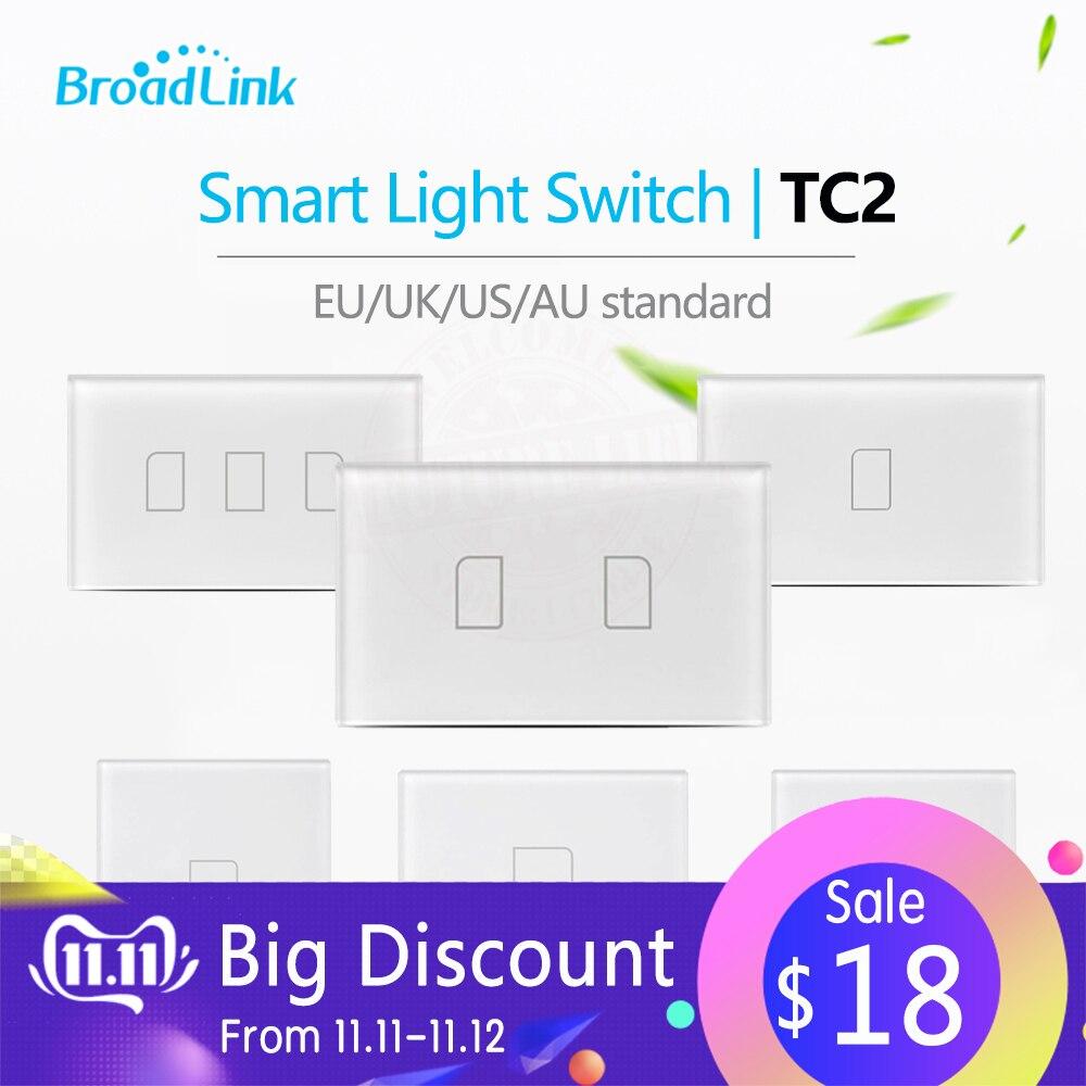 Image 2 - Broadlink TC2 1Gang/2Gang/3Gang UK/EU/US Touch RF433 Switch Smart  Home Automation Wireless Wifi Remotel Control  Wall Lighteu usus  euus light