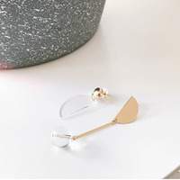 WKOUD EAM 2019 New Woman Brief Asymmetric Geometry Personality Earrings Fashion Female Jewelry Accessories Party Gift 6#JY669