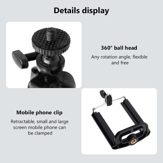 New Mini Flexible Sponge Octopus Tripod for iPhone Samsung Xiaomi Huawei Mobile Phone Smartphone Tripod for Gopro 9 8 7 Camera 6
