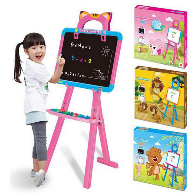 Children Black And White Magnetic Drawing Board Large Size Standing Double-Sided Magnetic Drawing Board Educational Fun Sketchpa