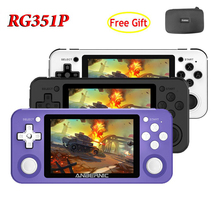 Handheld Console Video RG351P 2500-Games Retro with Open-Source Full-Fit-Screen OCA