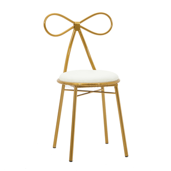 Nordic Makeup Chair Net Red Ins  Simple  Stool Back Dressing  Bow   Table
