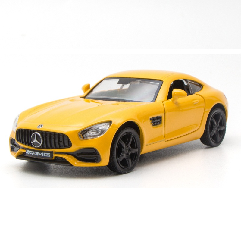 High Simulation Exquisite Diecasts & Toy Vehicles: RMZ City Car Styling AMG GTS Supercar 1:36 Alloy Diecast Model Pull Back Cars