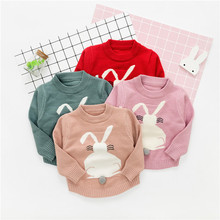2020 Autumn Girls Sweater Knit Solid Color Fashion Toddler Baby Long Sleeve Clothing