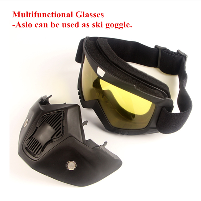 Cycling Motorcycle Helmet Dust Face Mask Shield Respirator Motocross Goggle Glasses Safety Protective Eyewear Bike Bicycle Tools 5